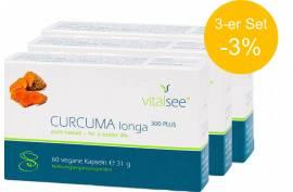 Curcuma longa 300 mg (60 Kaps.) von VITALSEE | 3-er Pack -3% | Darmunterstützung