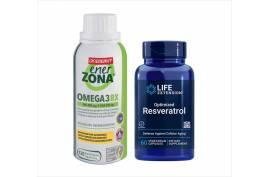 Brain-Duo Omega 3 (120 Kaps) und Resveratrol (60 Kaps.)