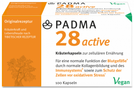 Padma 28 active (100 Kaps.) | Unterstützung Blutgefäße, Immunsystem, gegen oxidat. Stress